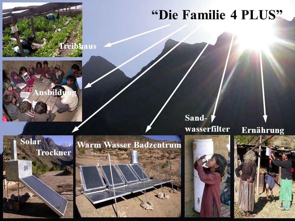"""Ernährung Solar Trockner Treibhaus Ausbildung Warm Wasser Badzentrum """"Die Familie 4 PLUS"""" Sand- wasserfilter"""