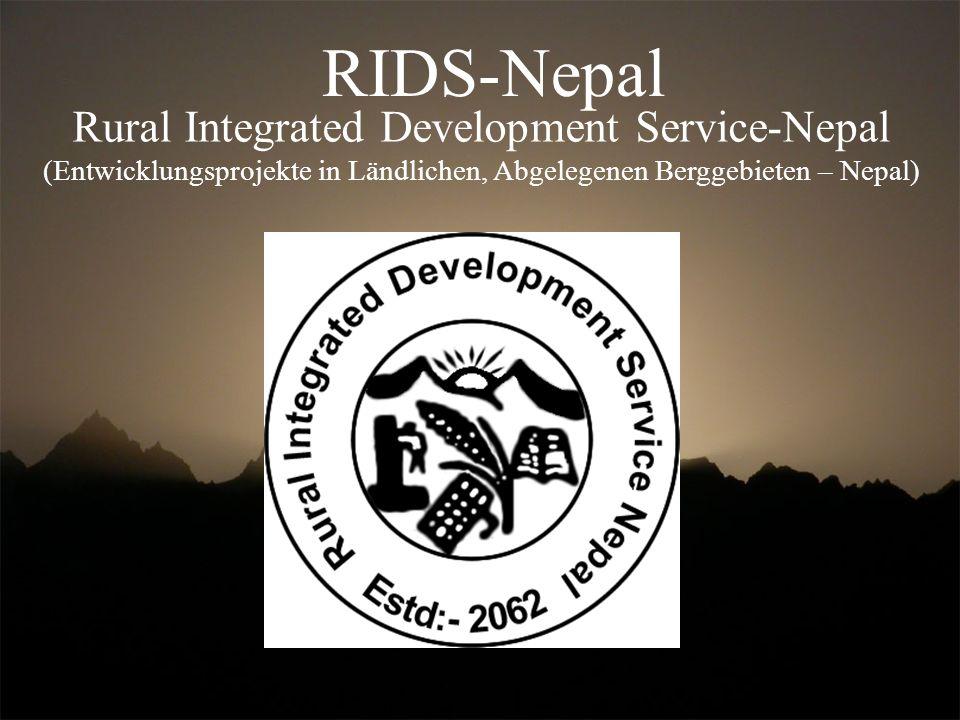 Rural Integrated Development Service-Nepal (Entwicklungsprojekte in Ländlichen, Abgelegenen Berggebieten – Nepal) RIDS-Nepal