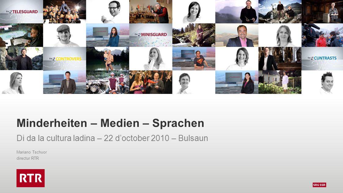 Minderheiten – Medien – Sprachen Di da la cultura ladina – 22 d'october 2010 – Bulsaun Mariano Tschuor directur RTR