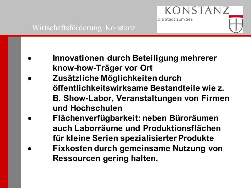  Innovationen durch Beteiligung mehrerer know-how-Träger vor Ort  Zusätzliche Möglichkeiten durch öffentlichkeitswirksame Bestandteile wie z.