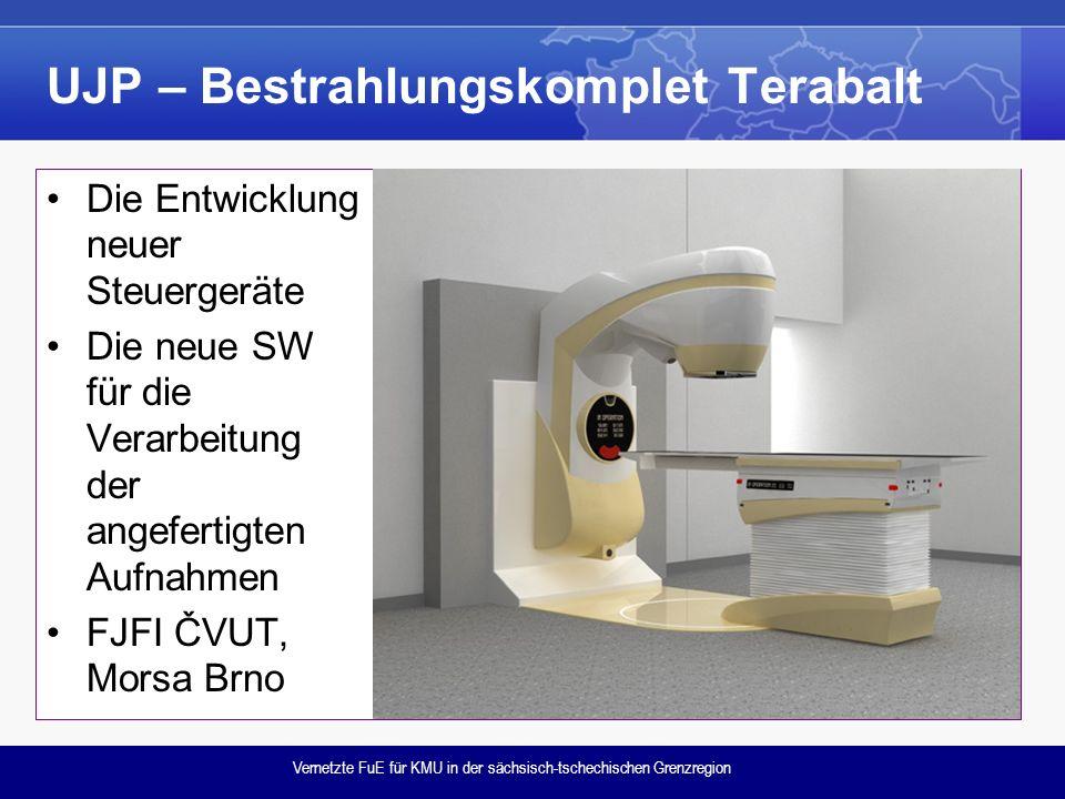 Vernetzte FuE für KMU in der sächsisch-tschechischen Grenzregion UJP – Bestrahlungskomplet Terabalt Die Entwicklung neuer Steuergeräte Die neue SW für