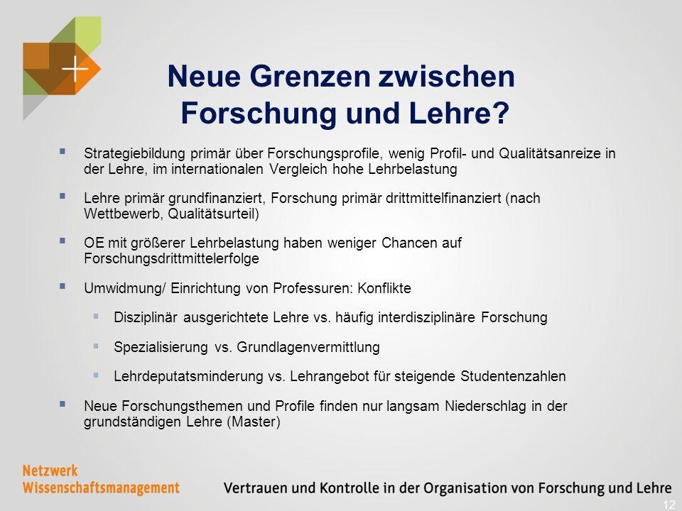 Neue Grenzen zwischen Forschung und Lehre.