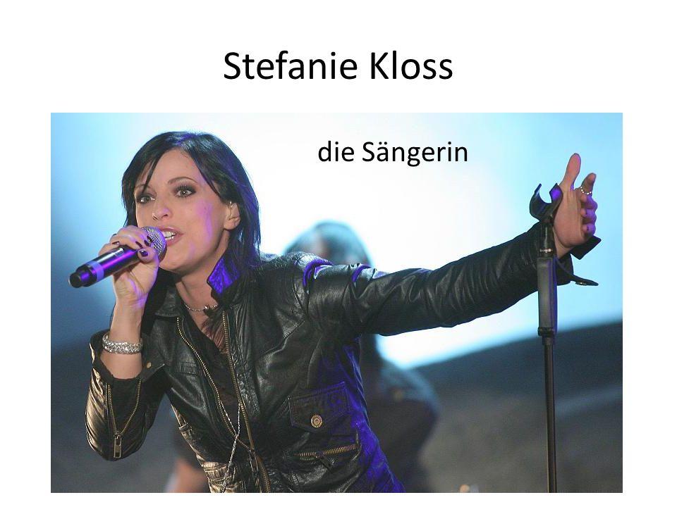 Stefanie Kloss die Sängerin