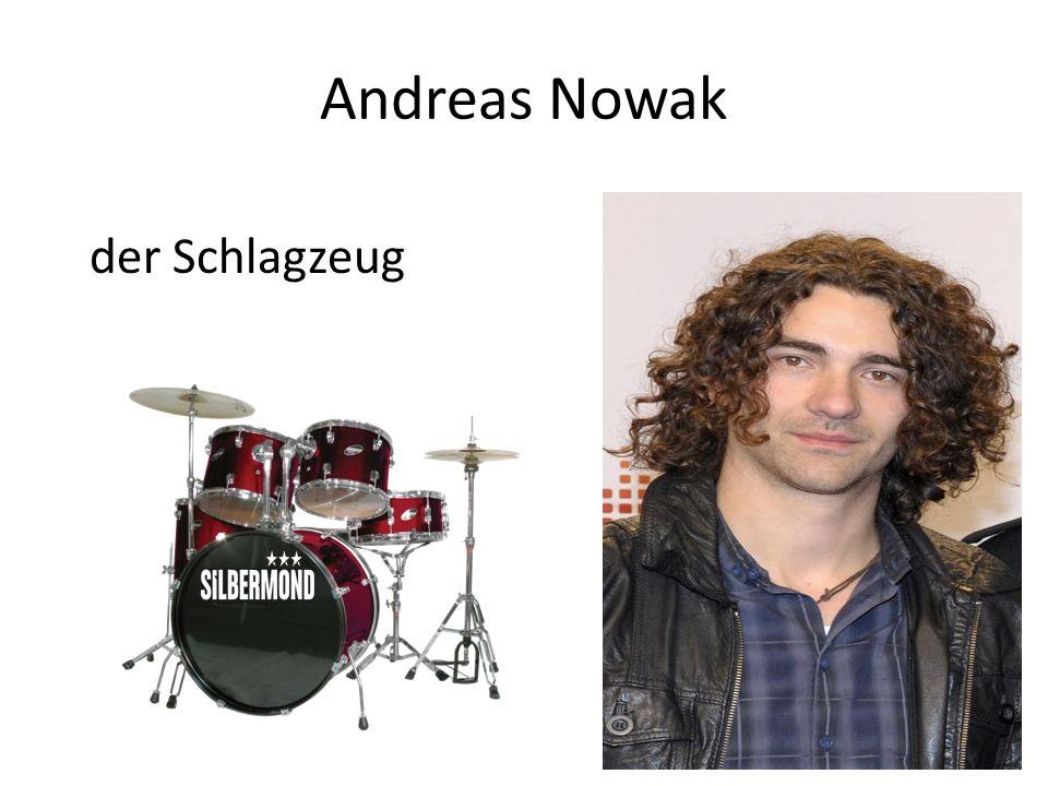 Andreas Nowak der Schlagzeug