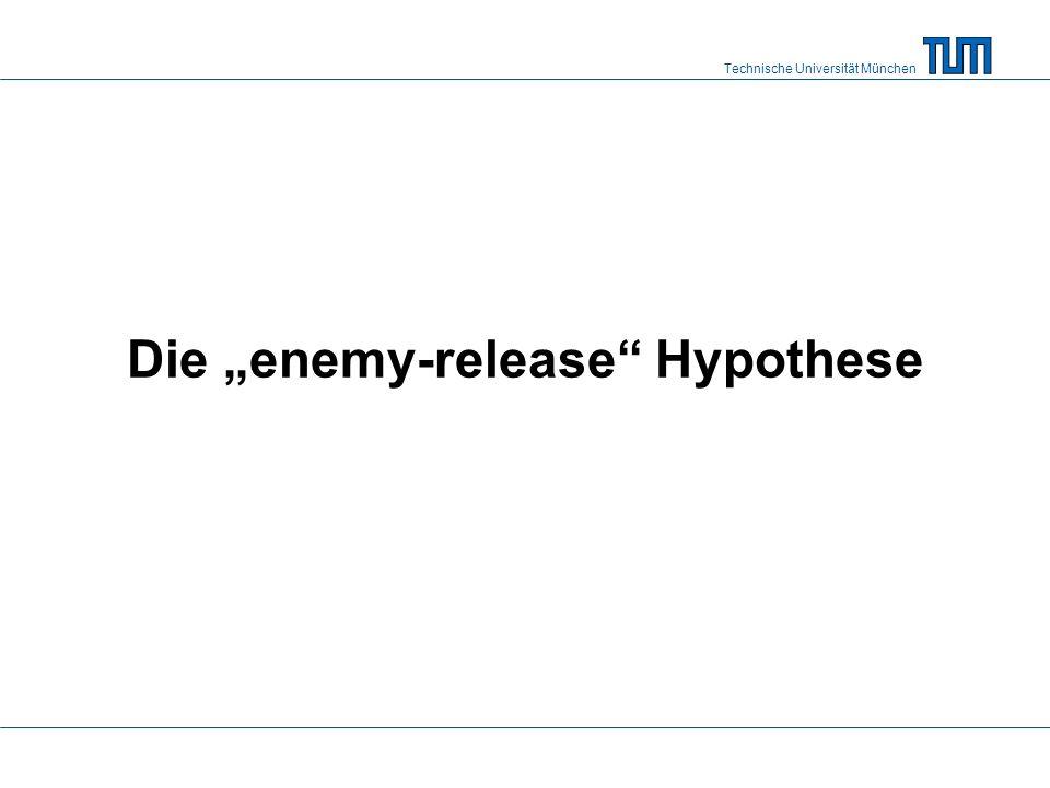 """Technische Universität München Die """"enemy-release Hypothese"""
