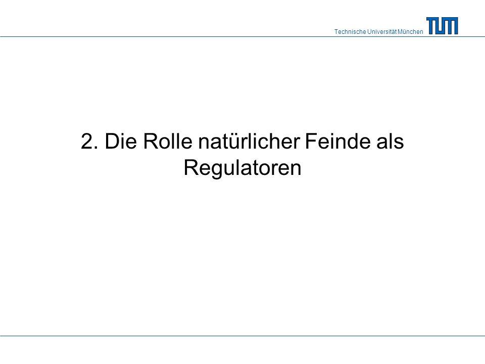 Technische Universität München 2. Die Rolle natürlicher Feinde als Regulatoren