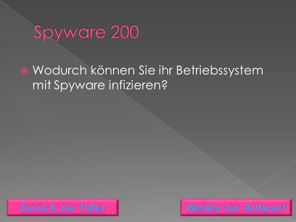  Wodurch können Sie ihr Betriebssystem mit Spyware infizieren