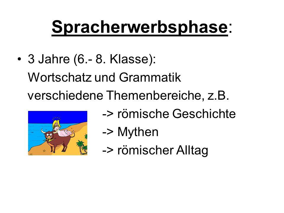 Spracherwerbsphase: 3 Jahre (6.- 8.