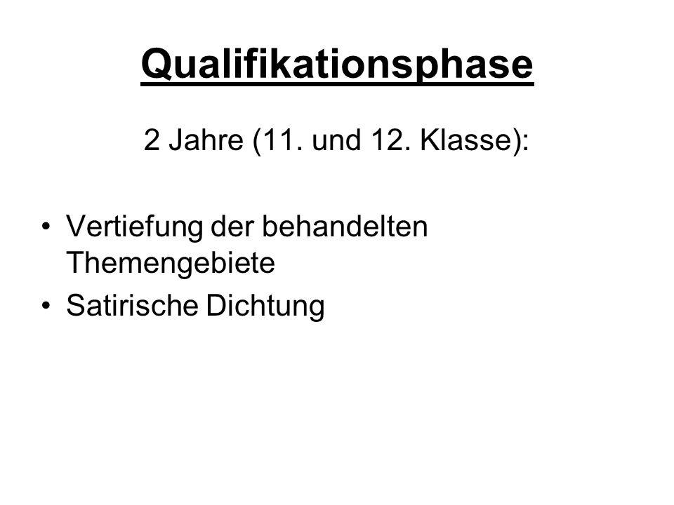 Qualifikationsphase 2 Jahre (11. und 12.
