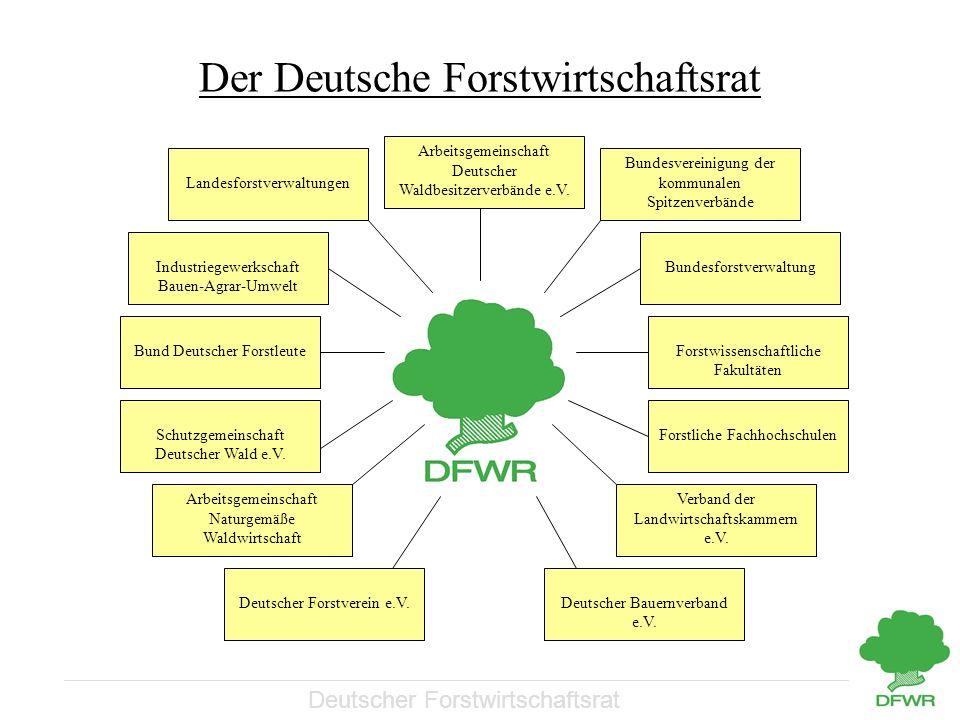 Deutscher Forstwirtschaftsrat Der Deutsche Forstwirtschaftsrat Arbeitsgemeinschaft Deutscher Waldbesitzerverbände e.V. Bundesvereinigung der kommunale