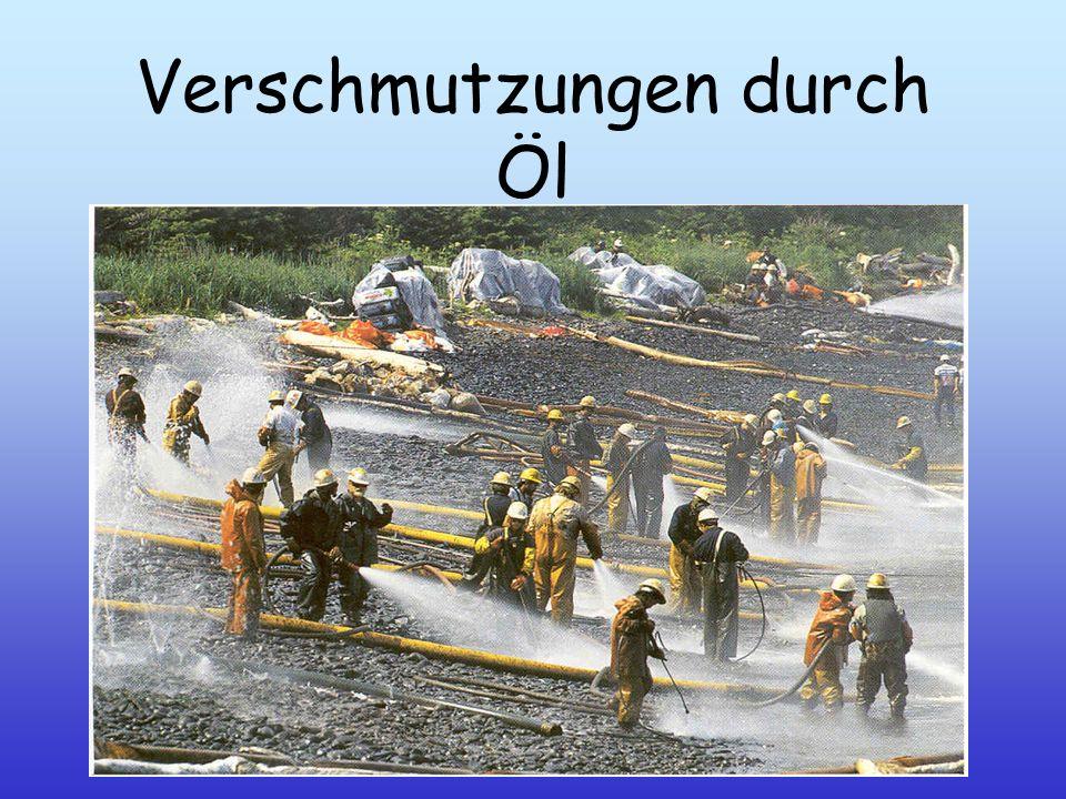 Verschmutzungen durch Öl