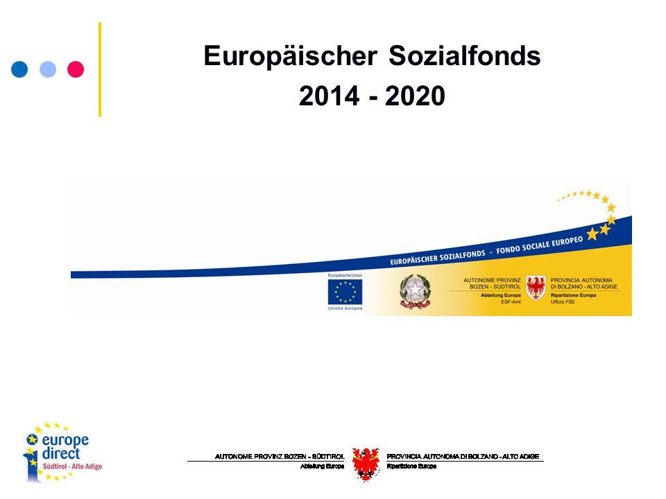 Europäischer Sozialfonds 2014 - 2020