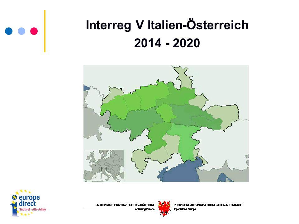 Interreg V Italien-Österreich 2014 - 2020