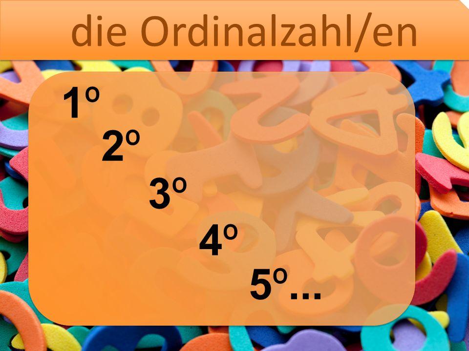4 19 die Vier eine Vier die Zahl die Kardinalzahl/en die Neun eine Neunzehn Femininum