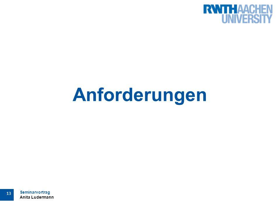 Seminarvortrag Anita Ludermann 13 Anforderungen