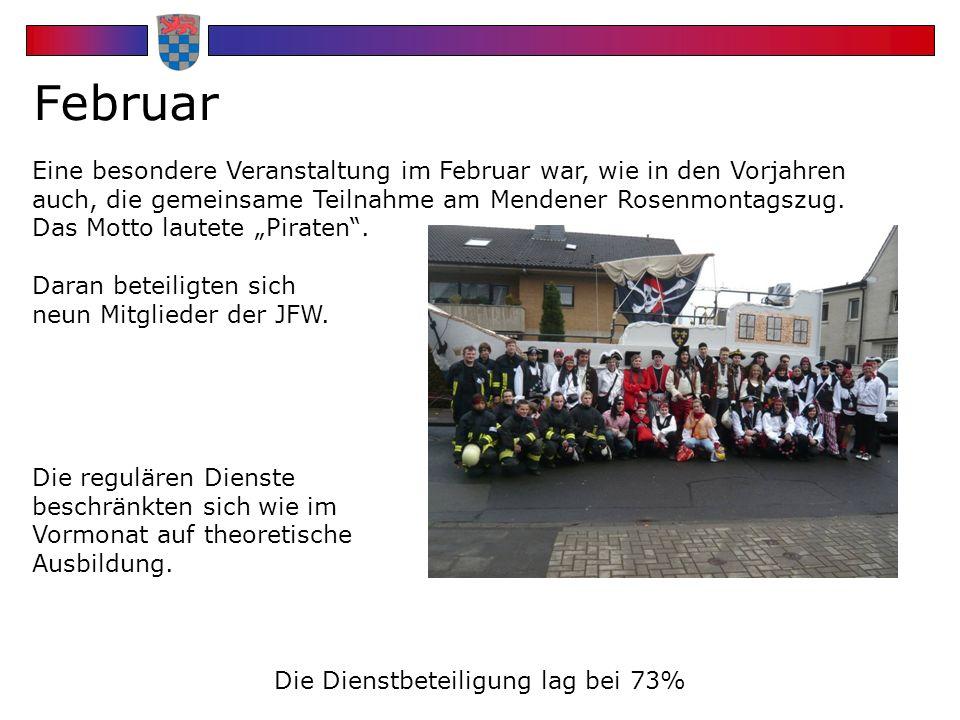 HEATFolie 4 Februar Eine besondere Veranstaltung im Februar war, wie in den Vorjahren auch, die gemeinsame Teilnahme am Mendener Rosenmontagszug.