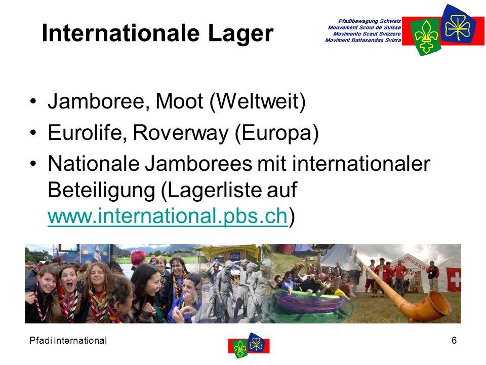 Pfadi International7 Partnerschaften Burkina Faso und Rumänien (Fast) jährliche Lager, Soziale Projekte Beteiligung in der Projektgruppe www.burkina.pbs.ch www.rumaenien.pbs.ch