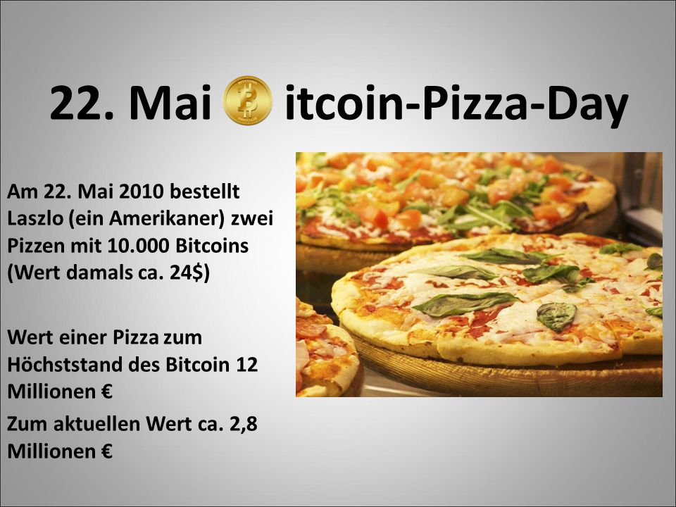 22. Mai itcoin-Pizza-Day Am 22.