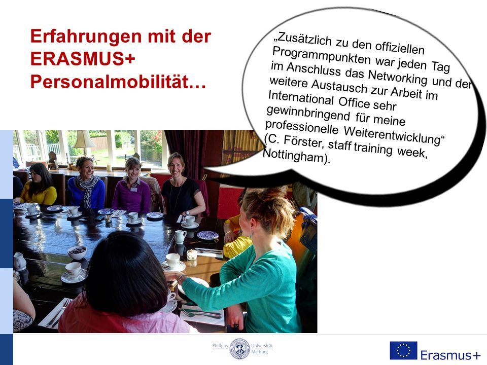 ERASMUS+ Personal- und Dozentenmobilität Kontakt: Referat für Europäische Bildungsprogramme - International Office - Deutschhausstr.