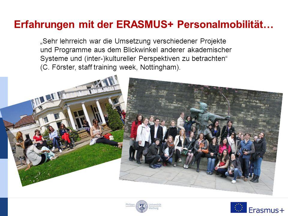 """Erfahrungen mit der ERASMUS+ Personalmobilität… """"Zusätzlich zu den offiziellen Programmpunkten war jeden Tag im Anschluss das Networking und der weitere Austausch zur Arbeit im International Office sehr gewinnbringend für meine professionelle Weiterentwicklung (C."""