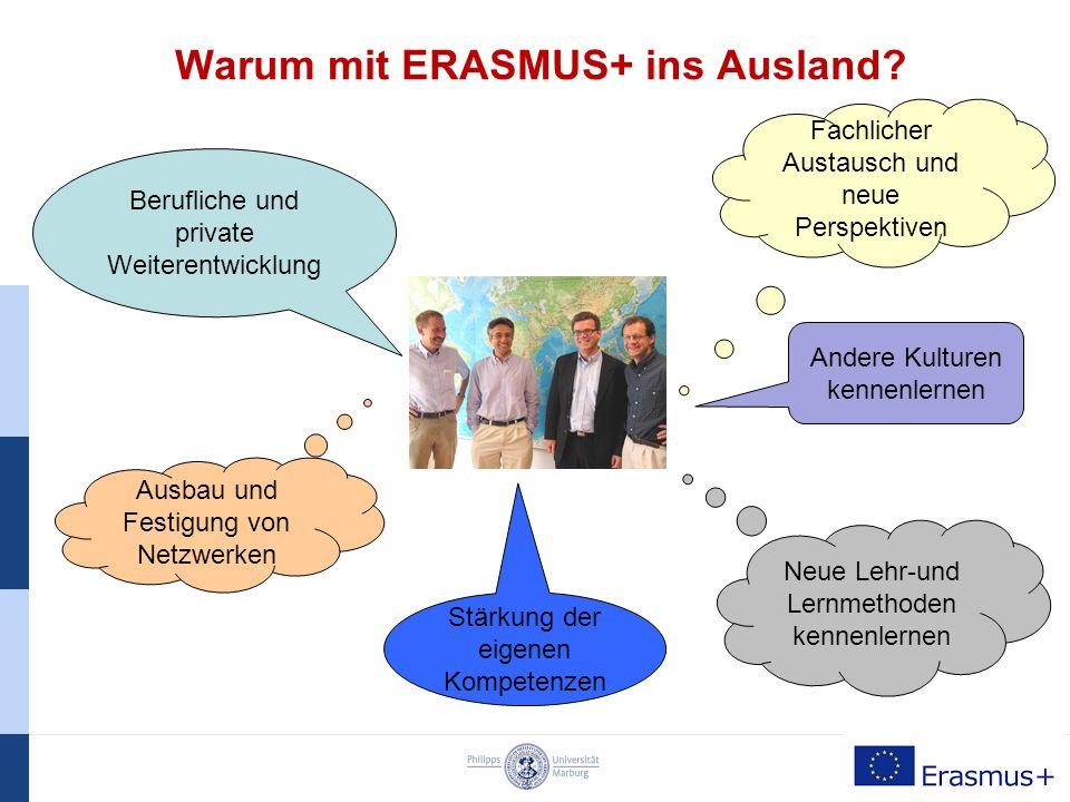 Personal- und Dozentenmobilität Mit ERASMUS+ ins Ausland… Personal- und Dozentenmobilität