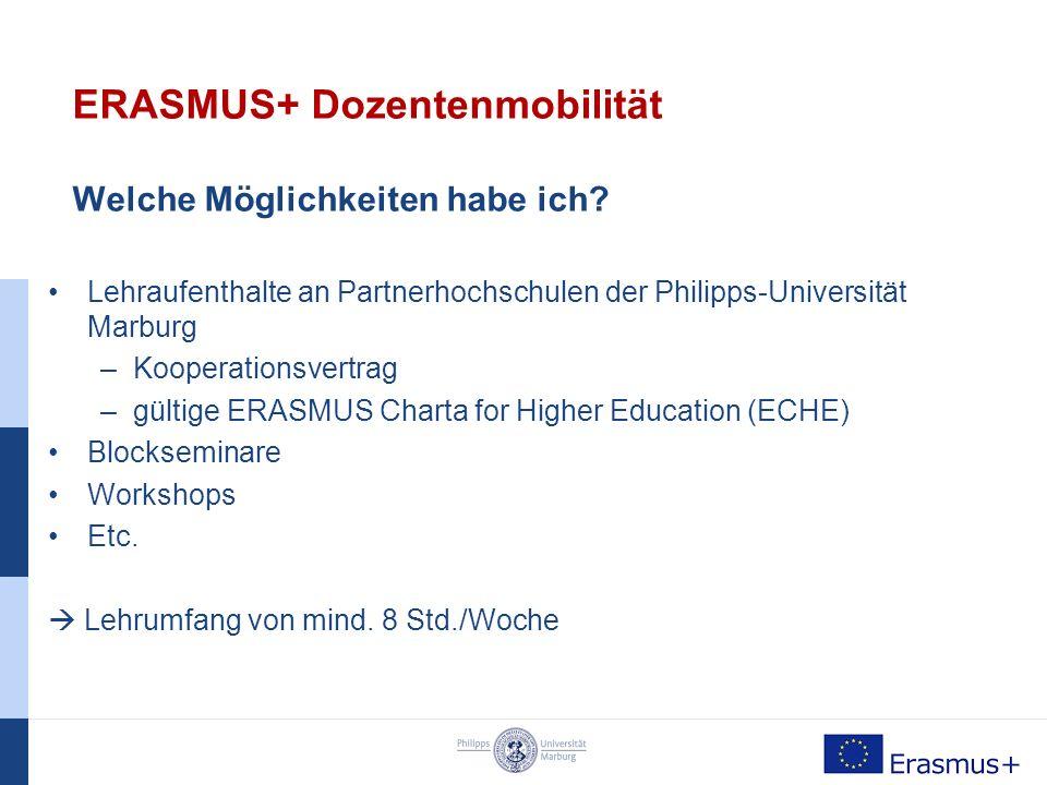 ERASMUS+ Personalmobilität Wie finde ich einen Platz.