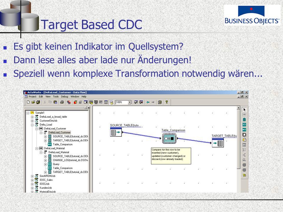 Target Based CDC Es gibt keinen Indikator im Quellsystem.