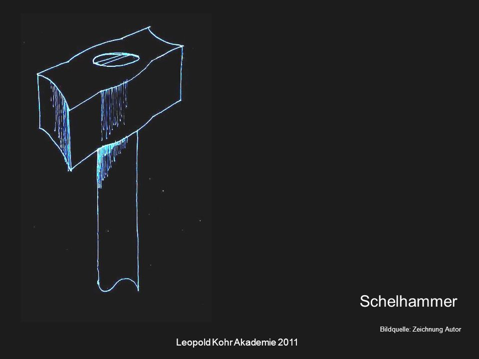 Leopold Kohr Akademie 2011 Bildquelle: Zeichnung Autor Schelhammer