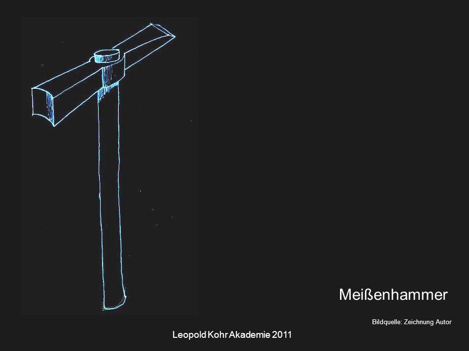 Leopold Kohr Akademie 2011 Bildquelle: Zeichnung Autor Meißenhammer