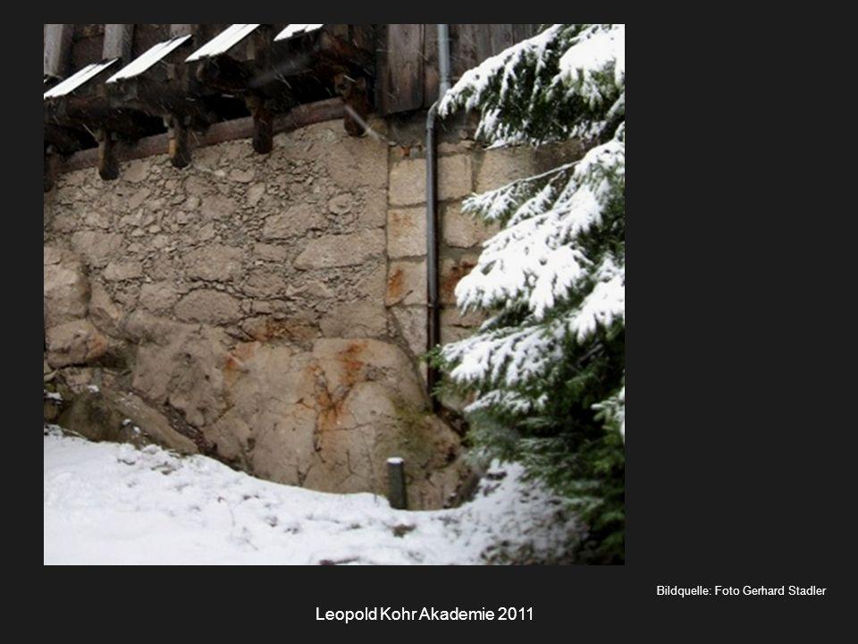 Leopold Kohr Akademie 2011 Bildquelle: Foto Gerhard Stadler