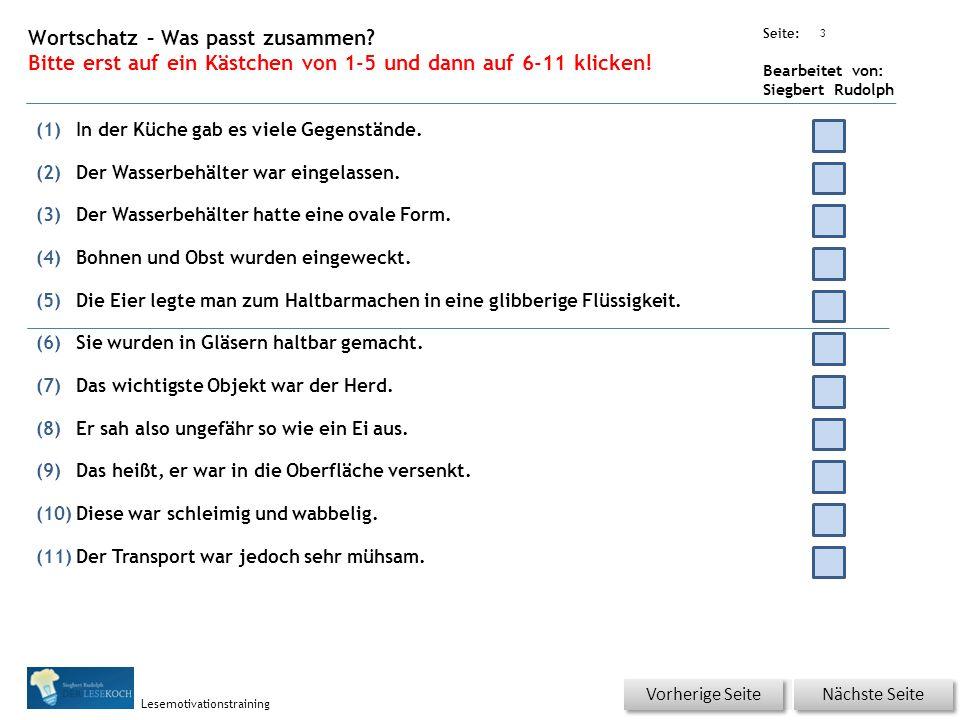 Übungsart: Seite: Bearbeitet von: Siegbert Rudolph Lesemotivationstraining 2 08 Kochen und Backen – bitte klicken.