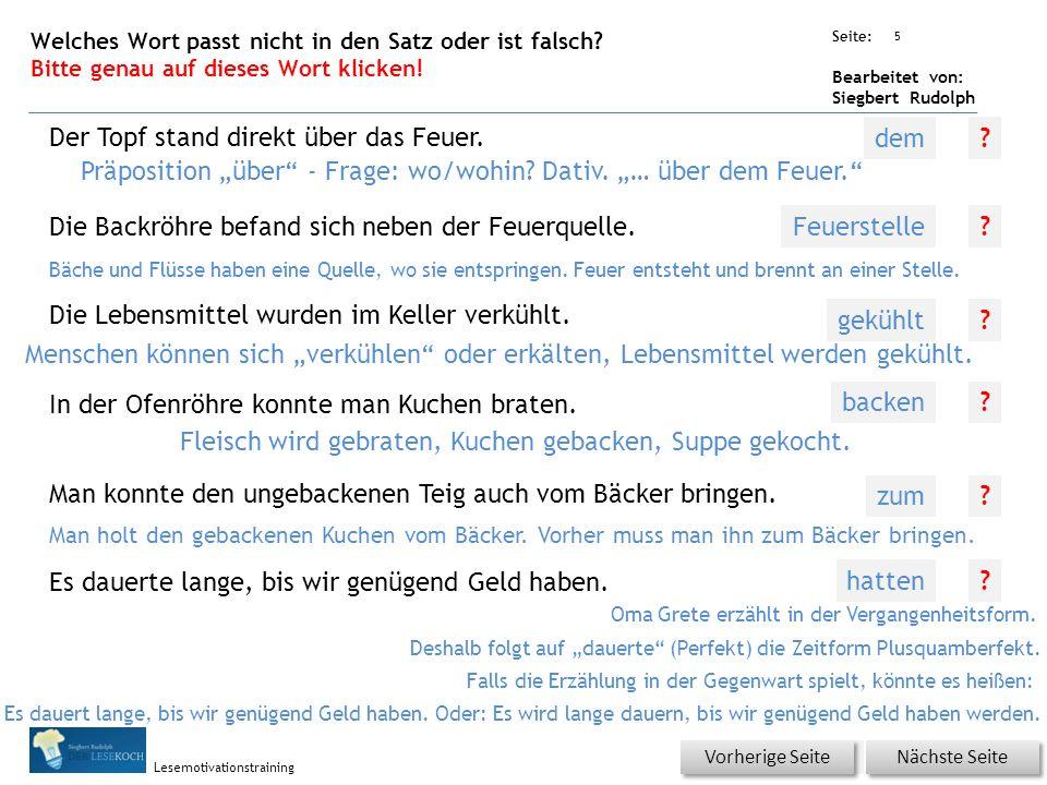 Übungsart: Seite: Bearbeitet von: Siegbert Rudolph Lesemotivationstraining 4 Welches Wort passt nicht in die Reihe.