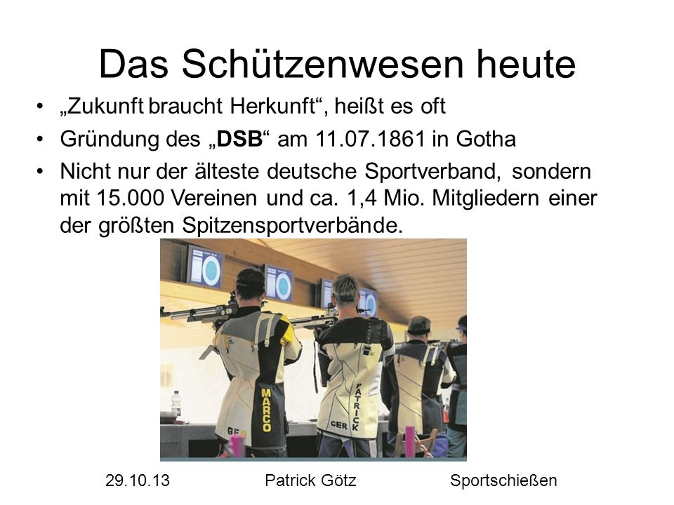 """Quellen DSB Flyer """"Sportschießen im Deutschen Schützenbund Wikipedia SV Eschbach 1900 e.V."""