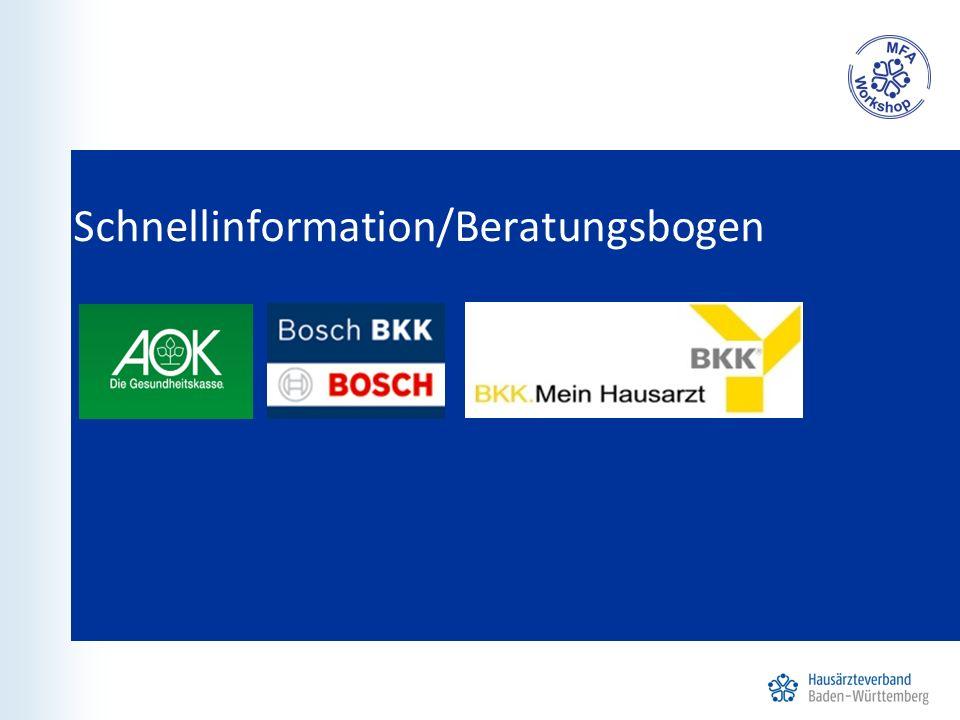 Schnellinformation/Beratungsbogen