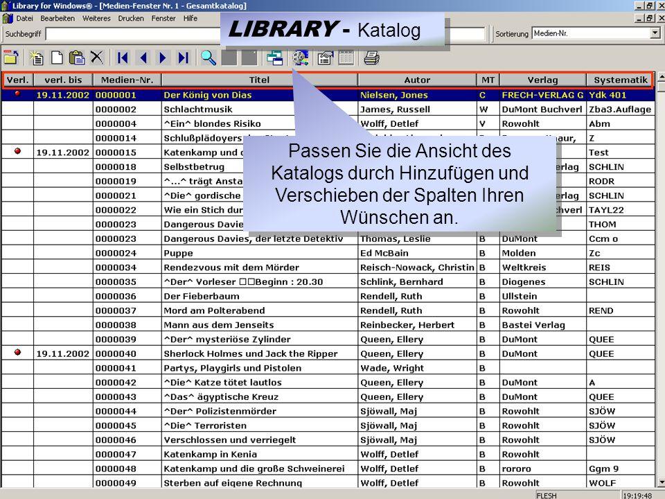 3.) Mediennummer einscannen 0000001 LIBRARY - Ausleihe