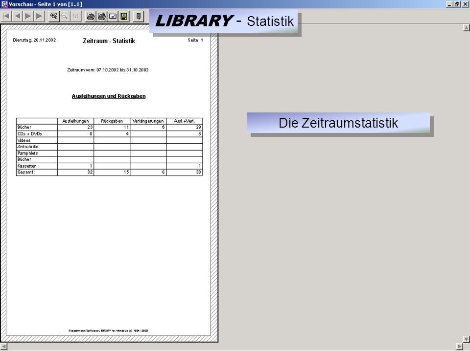 LIBRARY - Statistik Die Zeitraumstatistik