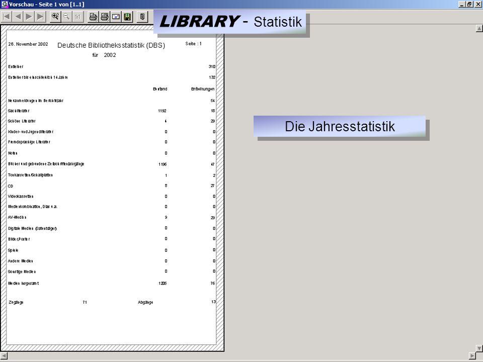 LIBRARY - Statistik Die Jahresstatistik