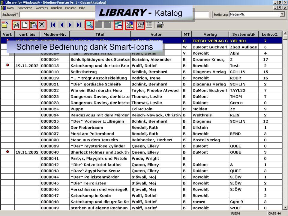 LIBRARY - Ausleihe Klare Übersicht! Einfache Bedienung! 1.) Ausleihe wählen