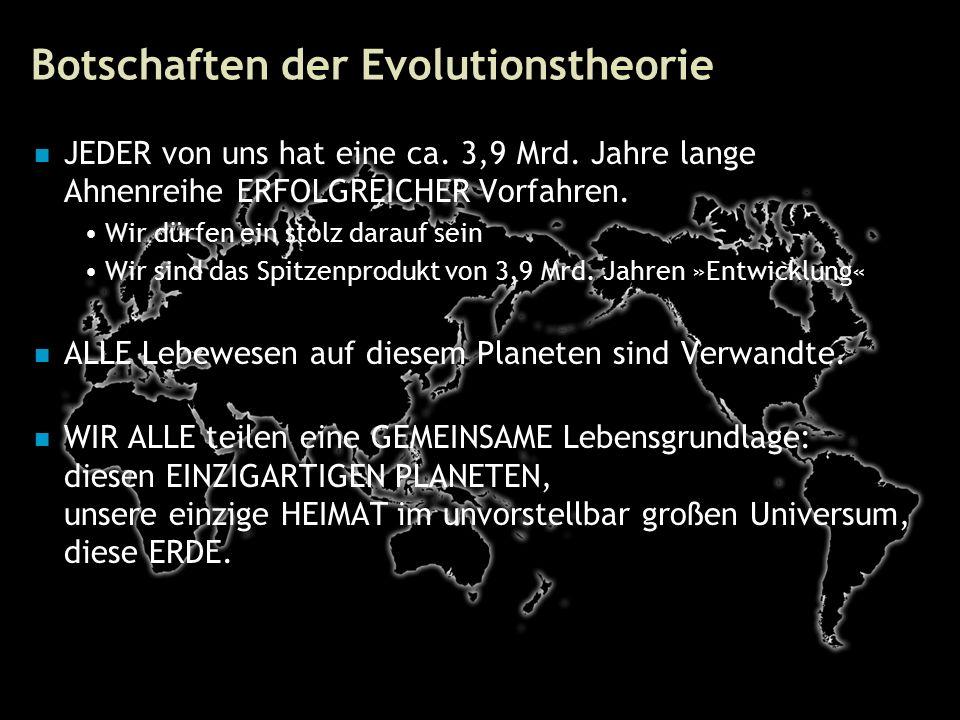 76 Botschaften der Evolutionstheorie JEDER von uns hat eine ca.