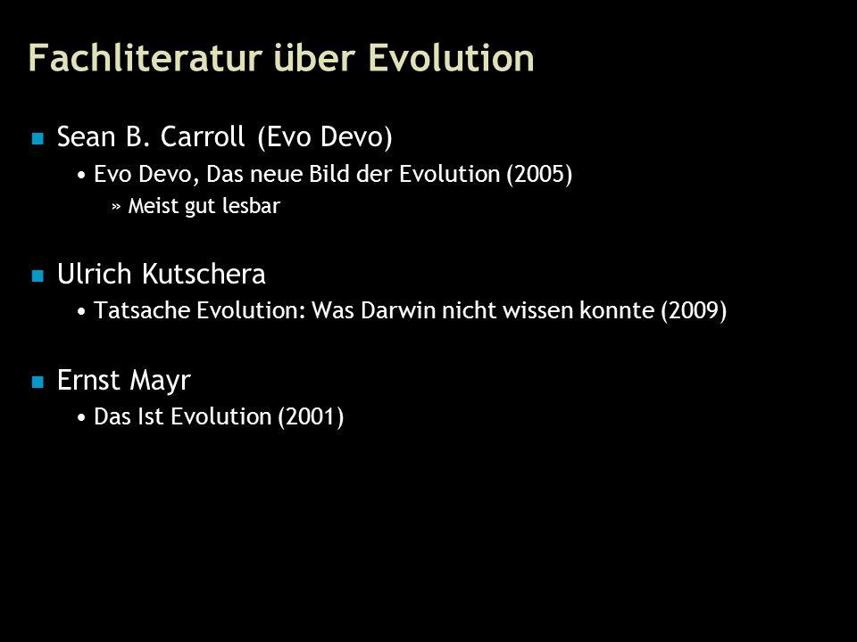 89 Fachliteratur über Evolution Sean B.