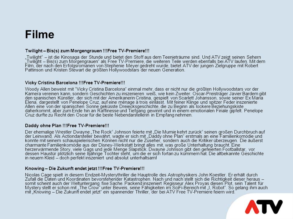 Filme Twilight – Bis(s) zum Morgengrauen !!!Free TV-Premiere!!.