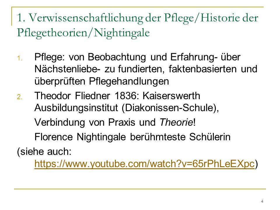 4 1.Verwissenschaftlichung der Pflege/Historie der Pflegetheorien/Nightingale 1.