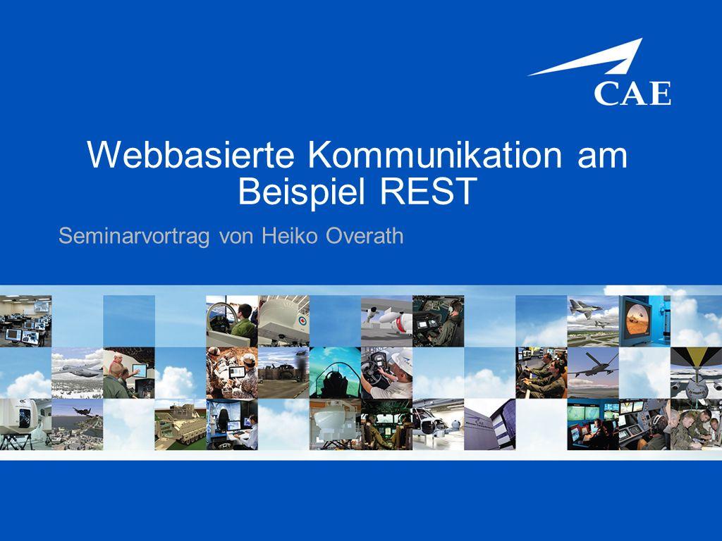 Webbasierte Kommunikation am Beispiel REST Seminarvortrag von Heiko Overath