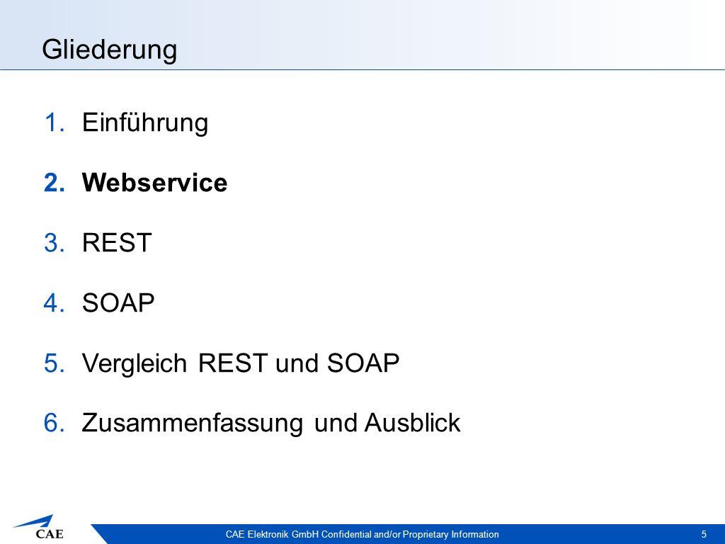 CAE Elektronik GmbH Confidential and/or Proprietary Information REST - Optionsdreieck 16