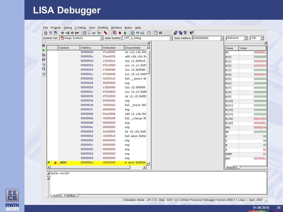 01.06.201628 LISA Debugger