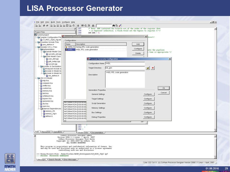01.06.201629 LISA Processor Generator