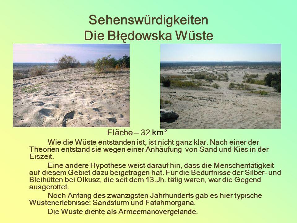 Sehenswürdigkeiten Die Błędowska Wüste Fläche – 32 km² Wie die Wüste entstanden ist, ist nicht ganz klar.