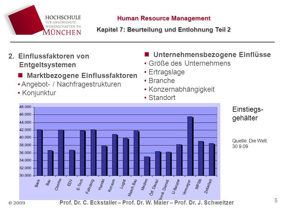 Human Resource Management Kapitel 7: Beurteilung und Entlohnung Teil 2 © 2009 Prof. Dr. C. Eckstaller – Prof. Dr. W. Maier – Prof. Dr. J. Schweitzer 5