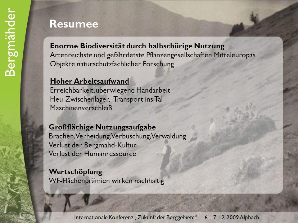 """Internationale Konferenz """"Zukunft der Berggebiete 6."""