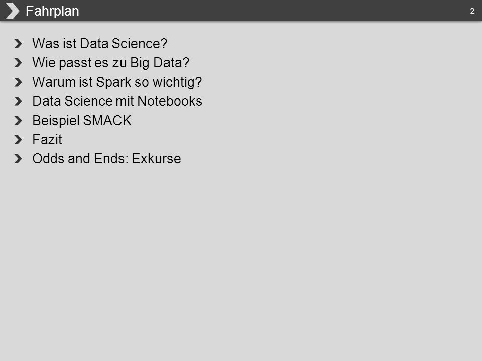 2 Was ist Data Science. Wie passt es zu Big Data.